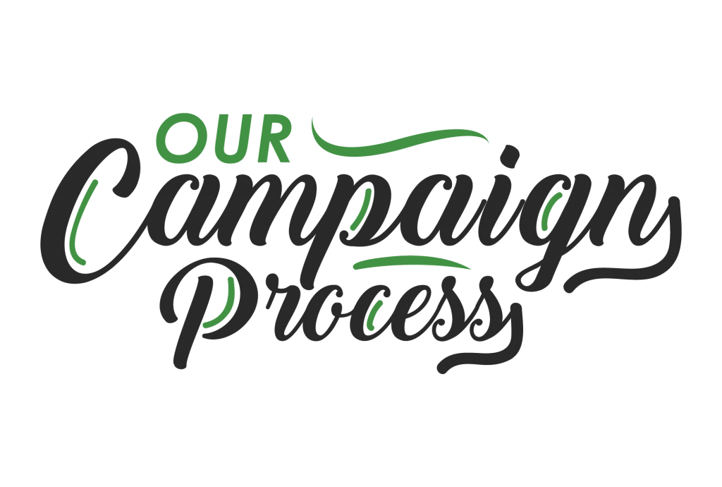 Our Campaign Process typography image